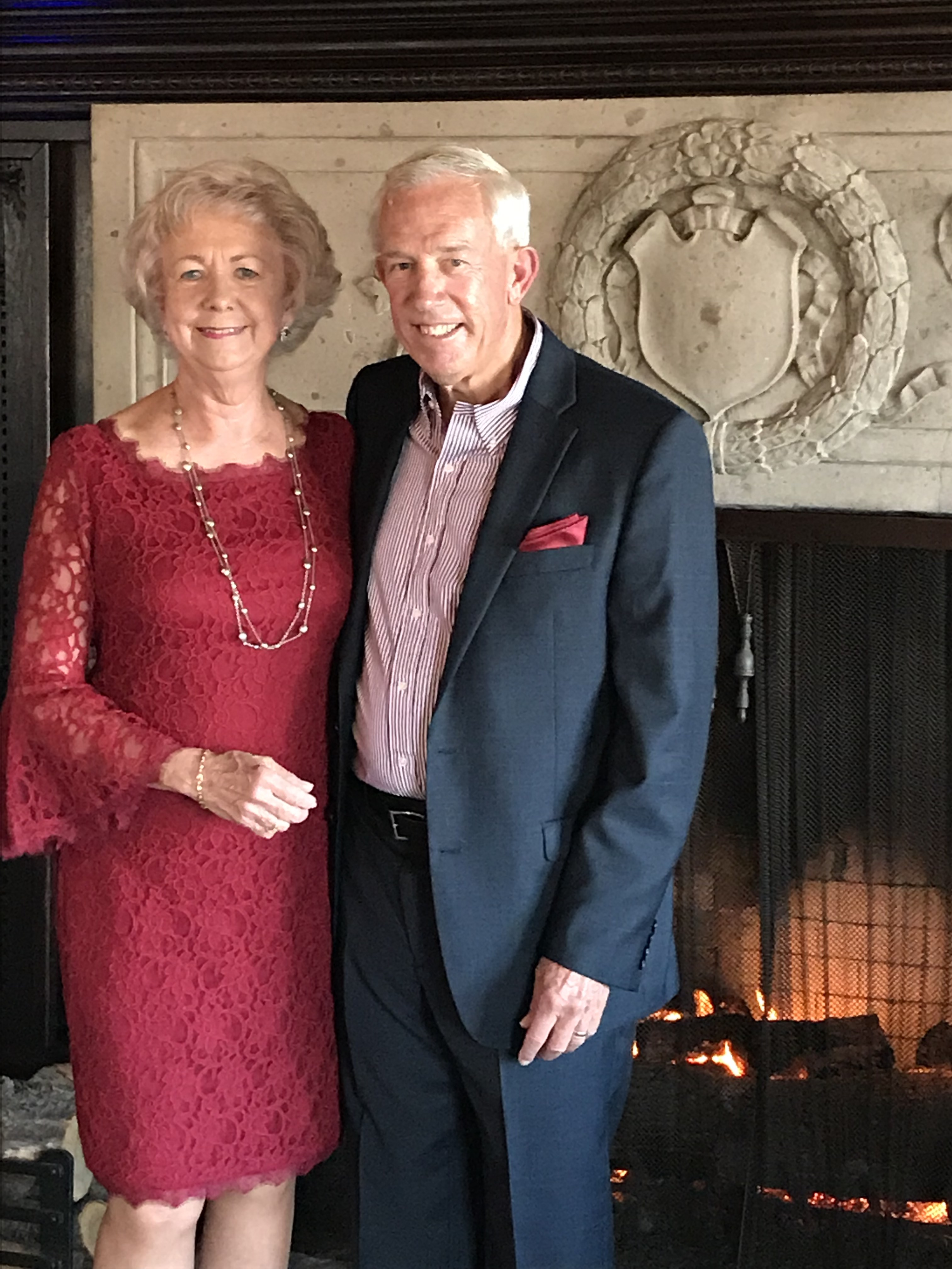 Rita and David Evans photographed at their 50th wedding anniversary celebration