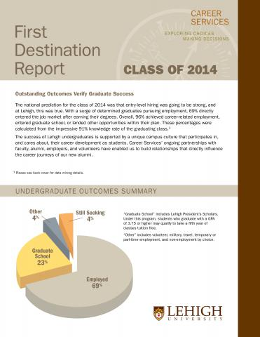2014 First Destination Report